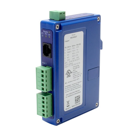 Industrial Modbus Ethernet/Serial Gateway - (2) TB, RJ45